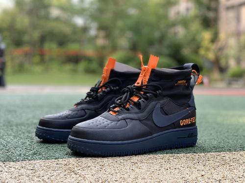 AF1防水黑橙 Nike Air Force 1 WTR GORE-TEX AF1高帮防水空军机能 cq7211-001