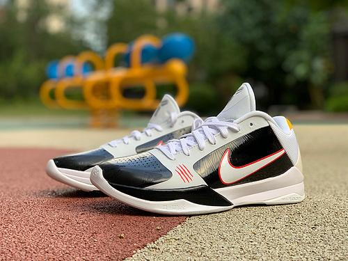 zk5黑白 纯原版Nike Kobe 5 Protro Alternate ZK5 反转黑白科5 CD4991-101