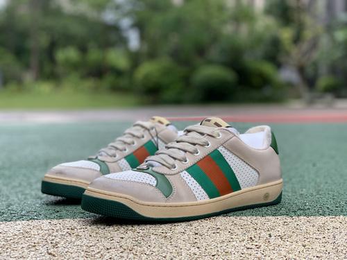 古驰脏鞋银线 GUCCI古驰 Screener 做旧绿尾 粉尾 银线 网眼 小脏鞋脏脏鞋