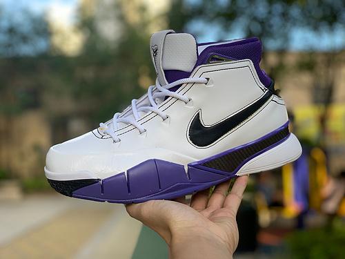 科比1白紫 真碳板Nike Kobe 1 Protro ZK1 科比1 战靴篮球鞋 AQ2728-105 尺码:40.5-46