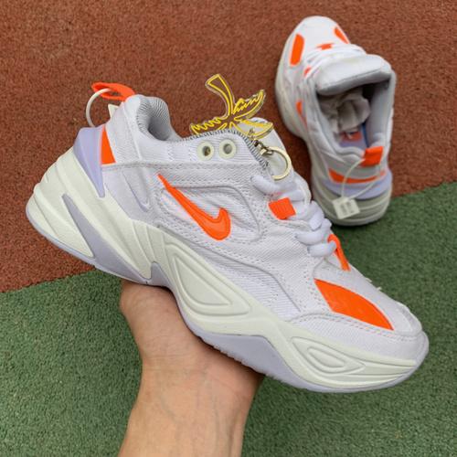 m2k新白橙 耐克 NIKE M2K TEKNO LUX 牛仔 白橙 老爹鞋 BV0970-100 尺码:36-40