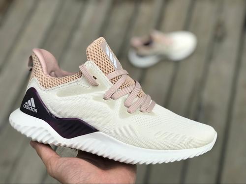 阿尔法白紫 Adidas Alphabounce beyond 阿尔法奶白紫 二代跑鞋 DB0206 尺码:36-39