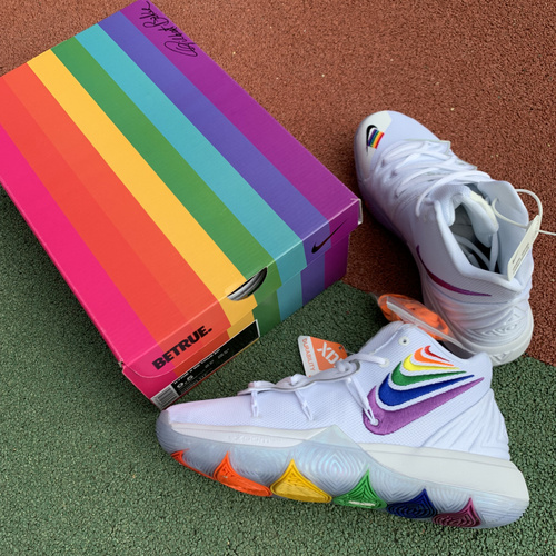 欧文5彩虹 NIKE KYRIE 5 欧文5代 彩虹 实战鞋 内置气垫 ch0521-117 尺码:39-46