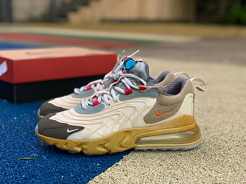 Max270tx联名 全新版本品质升级Travis Scott x Nike Air Max 270 React TS联名 CT2864-200 尺码:40-46