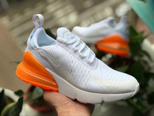 Max270白橘 夏季透气 Nike Air Max 270 白橘色 男女气垫跑鞋 ah6789-102 尺码:36-44