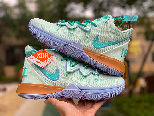 欧文5章鱼哥 Nike Kyrie 5x 海绵宝宝联名 欧文5 CJ6951-300  尺码:40-46
