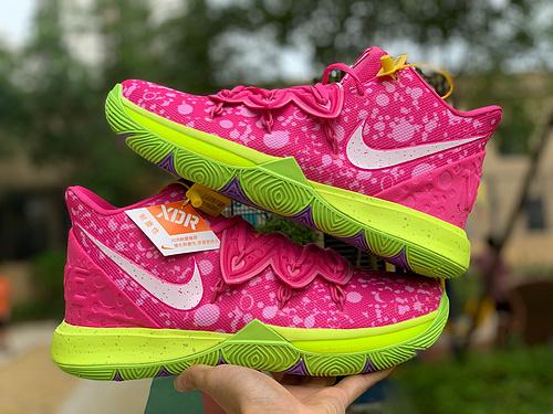 欧文5派大星 Nike Kyrie 5x 海绵宝宝联名 欧文5 CJ6951-700 尺码:40-46