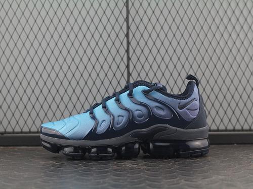 "Air Vapormax Plus TM蒸汽大气垫慢跑鞋""暗夜蓝黑""924453-401"