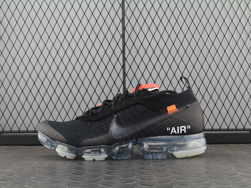 "H12 Virgil Abloh设计师OFF-WHITE x Nike Air VaporMax 2.0代 蒸汽大气垫慢跑鞋""OW2.0黑冰蓝""AA3831-002"