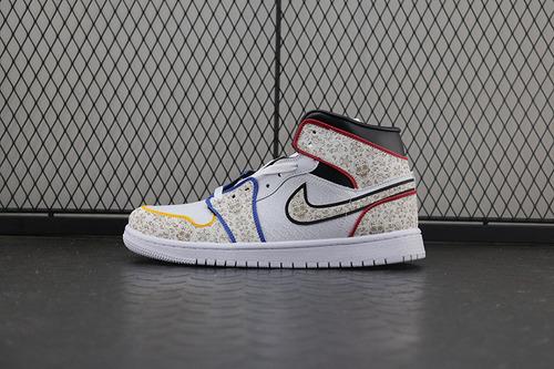 "The Shoe Surgeon x Air Jordan 1 ""Day of the Dead"" AJ1 乔1亡灵节复古高帮百搭文化篮球鞋 BQ6827-100"