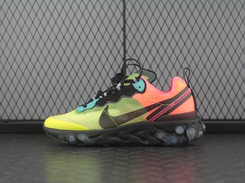 React Element 87 高桥盾联名 网纱透气超轻跑步鞋 AQ1090-700