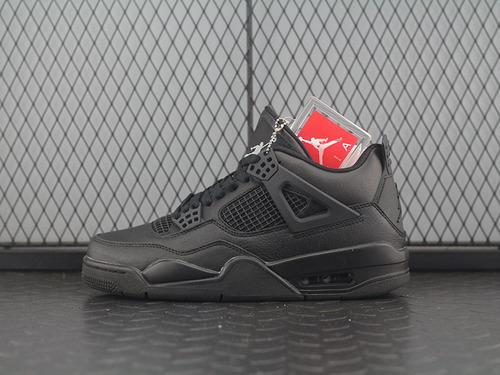 AJ4 Soleki x Air Jordan 4 Black Cat A 黑猫 308497-002