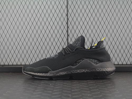"""三本耀司出品adidas Y-3 Saikou Boost赛高系列爆米花袜套武士前卫慢跑鞋""""全黑灰斑纹""""AC7197"""