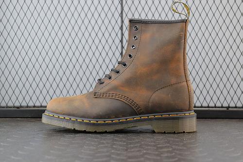 Dr.martens 马丁靴 2976系列 代工厂正品订单 八孔高邦 野马棕