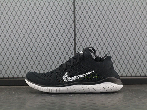 Free Rn Flyknit 2018赤足飞线黑白运动跑步鞋休闲鞋 942838-001