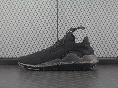 """三本耀司出品adidas Y-3 Saikou Boost赛高系列爆米花袜套武士前卫慢跑鞋""""全黑白签名""""BC0950"""