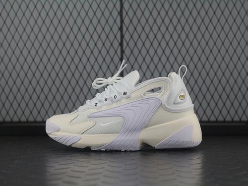 "Zoom +2K Sneaker Zoom 2000复古百搭老爹慢跑鞋""全白""AO0354-101"