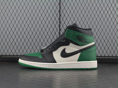 ST Air Jordan 1 Pine Green AJ1乔1 黑绿脚趾 篮球鞋 555088-302