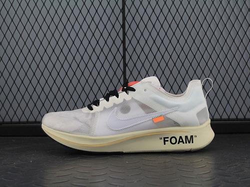 Off White Nike ZoomFly SP OW专柜 AJ4588-100 马拉松跑鞋