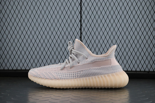 "PK版Yeezy 350 Boost V2""Synth""FV5578 阿迪达斯椰子350二代 全新银粉镂空天使 正品巴斯夫爆米花"