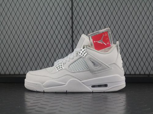 Air Jordan 4 Pure Money AJ4 全白 308497-100
