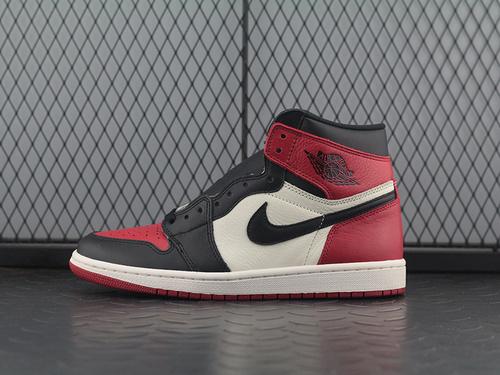 ST版 Air Jordan 1 Retro High OG AJ1黑红脚趾高帮篮球鞋 555088-610