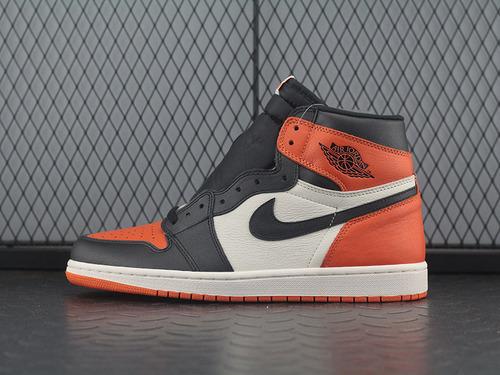 Air Jordan 1 Retro High OG AJ1乔1黑橙白扣碎篮板 555088-005