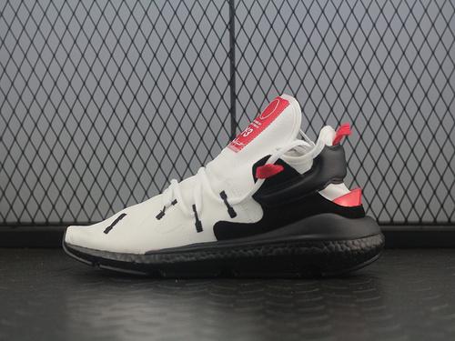 "YohjiYamamoto三本耀司 Y-3 Kaiwa Chunky Sneakers 凯瓦系列复古百搭轻量老爹鞋""皮革白黑红""QS3180"