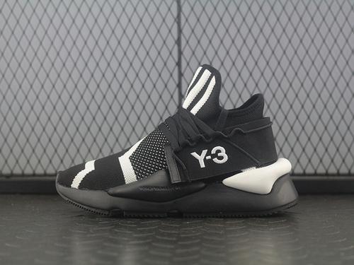 """YohjiYamamoto三本耀司 Y-3 Kaiwa Chunky Primeknit针织凯瓦系列复古百搭老爹鞋""""针织黑白斑马""""BC0930"""