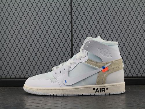 Pk 版aj1ow纯白联名 OFF-WHITE x Air Jordan 1 White 纯白联名AQ0818-100