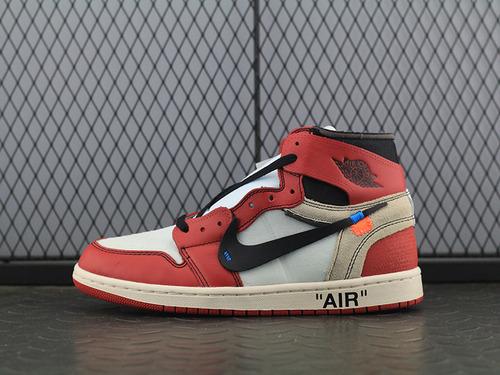 "AJ1ow联名 OFF-WHITE x Air Jordan 1 ""Chicago""AA3834-101"