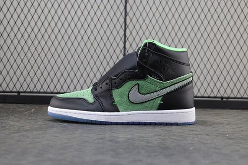 【OG】黑绿脚趾 Air Jordan 1 HI ZOOM AIR ,CK6637-002