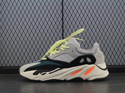 "G5 Kanye West x Adidas Yeezy Runner Boost 700系列复古爆米花中底慢跑鞋""白灰黑水绿""B75571"