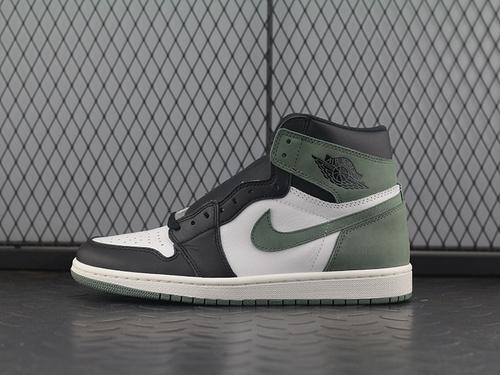 "ST  Air Jordan 1 ""Clay Green"" AJ1六冠王绿 篮球鞋 555088-135"