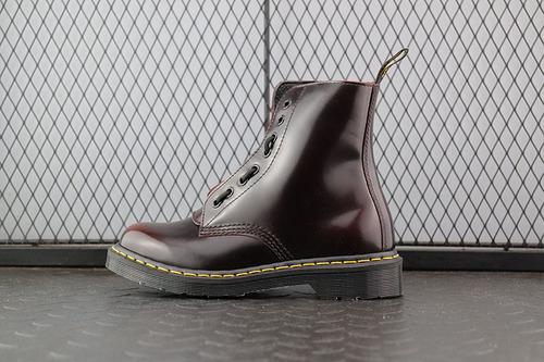 Dr.martens 马丁靴 2976系列 代工厂正品订单 酒红拉链