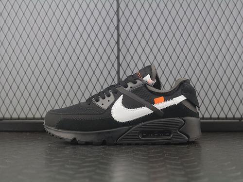 Off White x Nike Air Max 90 OW 耐克联名款经典气垫跑鞋 AA7293-001