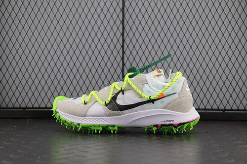Off white X Nike Zoom Terra Kiger s  CD8179-100  OW钉子 鞋白绿