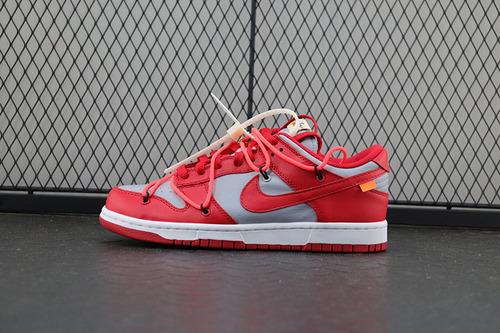 【H12】Off-White x Nike Dunk Low「Pine Green」扣篮系列板鞋 灰红