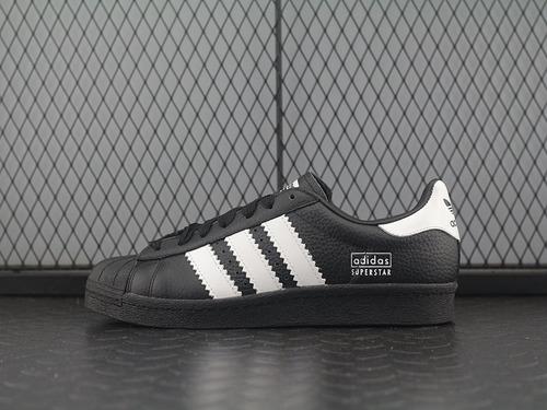 Superstar 80S 全黑粗杠LOGO全黑