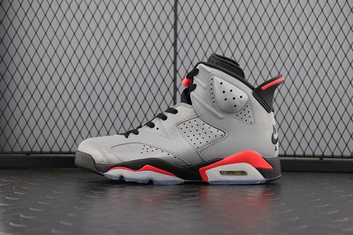 aj6大巴黎银灰3M A1版 Air Jordan 6 AJ6 大巴黎银灰 3M反光篮球鞋 CI4072-001