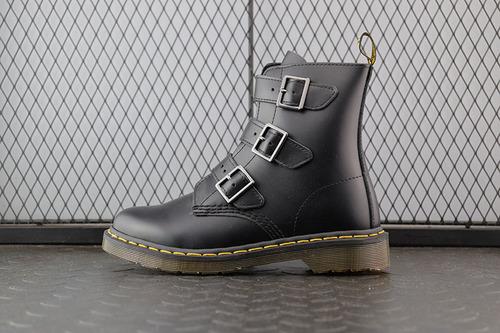 Dr.martens 马丁靴 2976系列 代工厂正品订单魔术扣高帮黑色