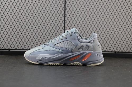 【OWF】Adidas Yeezy Boost 700 Inertia EG7597 侃爷椰子700灰兰跑鞋 真爆米花