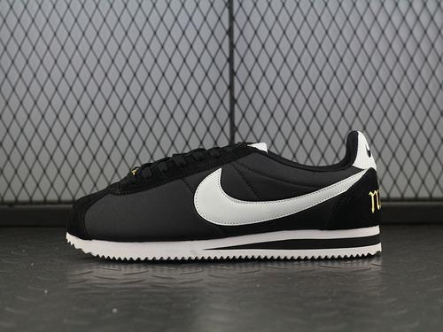 CLASSIC CORTEZ 夏季阿甘黑白休闲跑步鞋936371-001女鞋