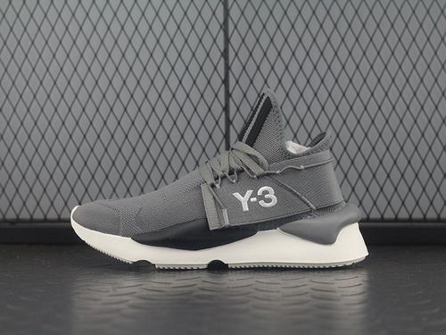 """三本耀司 Y-3 Kaiwa Chunky Primeknit针织凯瓦系列复古百搭老爹鞋""""针织灰黑白""""AQ2931"""