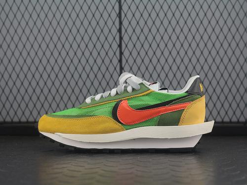 性价比Sacai x N LVD Waffle Daybreak 联名走秀款 网纱皮面拼接 双勾Swoosh跑步鞋 BV0073-300