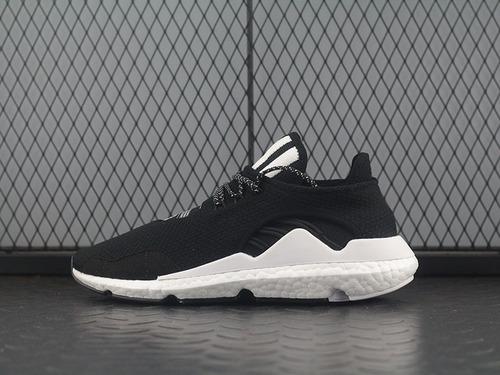 """三本耀司出品adidas Y-3 Saikou Boost赛高系列爆米花袜套武士前卫慢跑鞋""""黑白""""AC7196"""