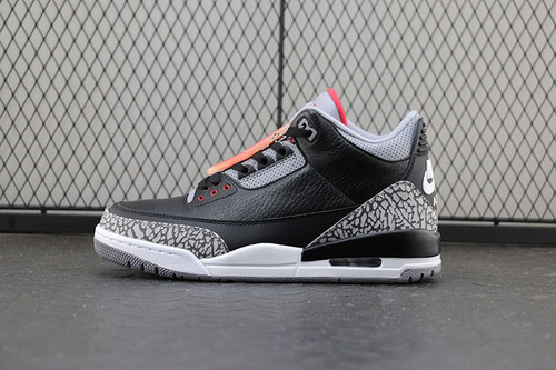 Air Jordan Retro 3 III Black/Cement Grey aj3黑水泥 爆裂纹 854262-001