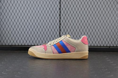 GUCI做旧款 灰粉蓝女鞋