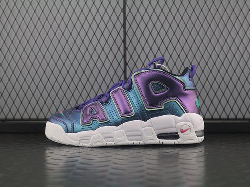"""Air More Uptempo GS""""Purple Iridescent""""皮蓬经典高街百搭篮球鞋系列""""紫色变色龙""""922845-500"""