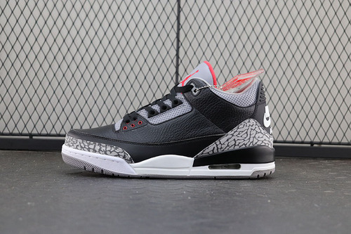 纯原 Air Jordan Retro 3 III Black/Cement Grey aj3黑水泥 爆裂纹 854262-001
